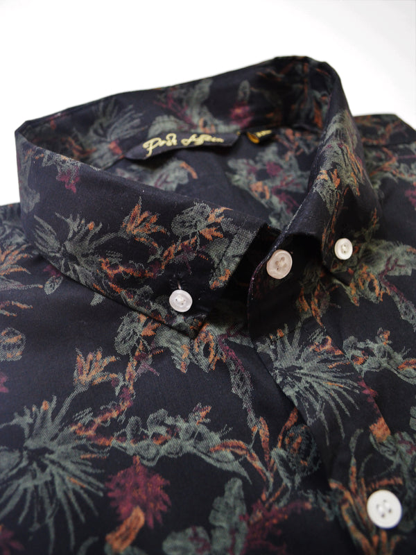 Black Forest Print Casual Men's Shirt