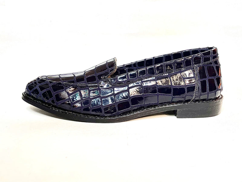 Women Leather Python Patterned Loafers