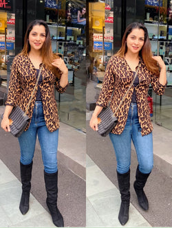 Animal Print Shrug Coat