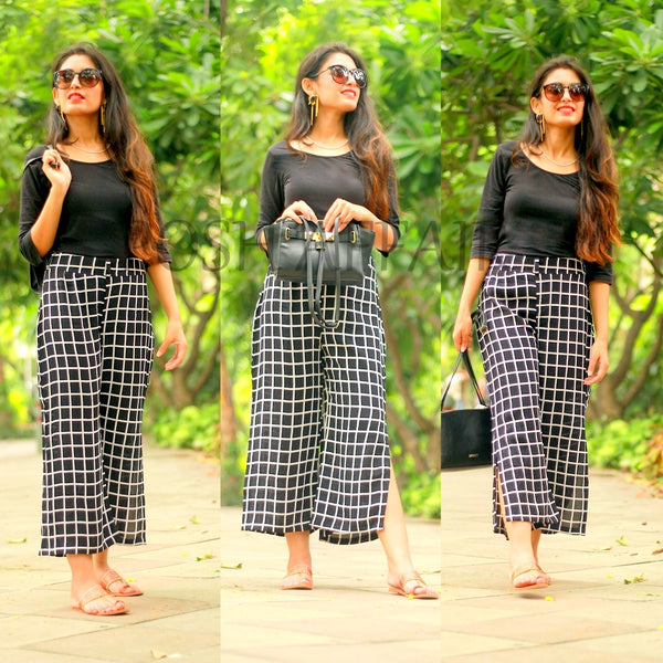 Check Printed Culottes