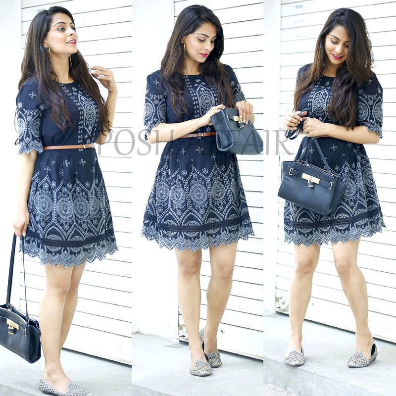 Summer essential cutwork dress