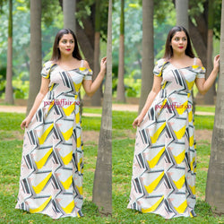 Maze Combination Maxi Gown