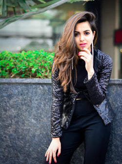 Black Sequins Jacket