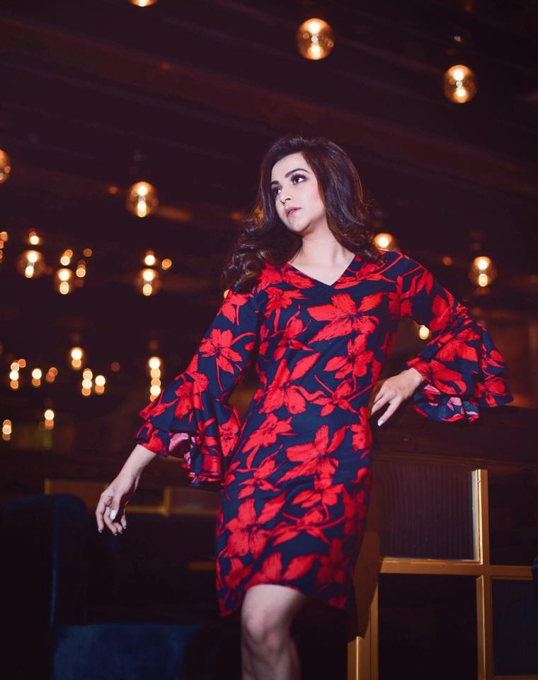 Floral Double Sleeve Dress