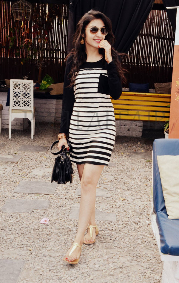 Black Stripey Dress