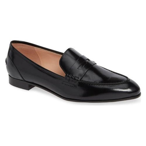 Women Black Leather Loafers