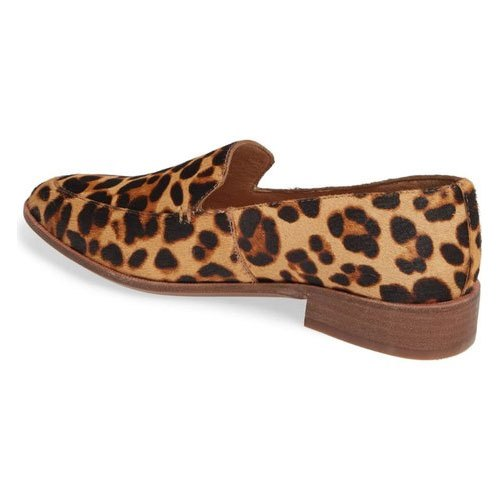 Women Leather Leopard Print Loafers