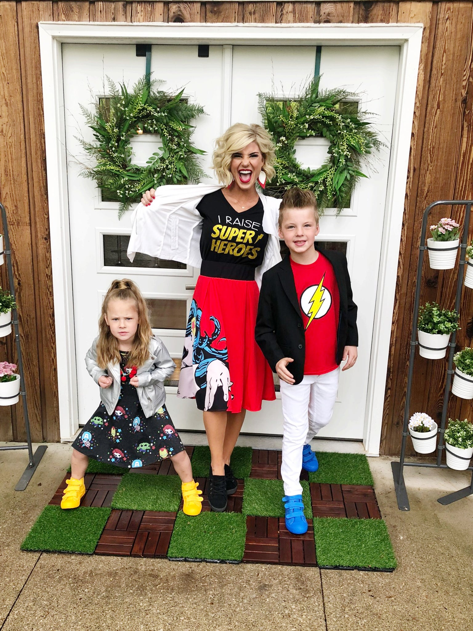 Creating matching super hero family costumes