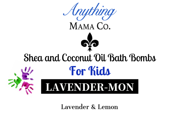 Lavender-Mon Kids Shea & Coconut Oil bath bomb (each)