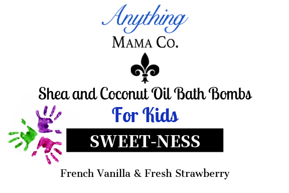 Sweet-Ness Kids Shea & Coconut Oil bath bomb