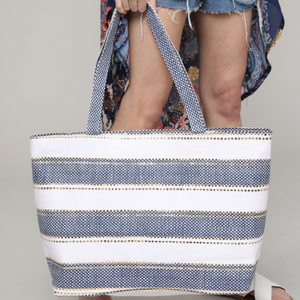 Cloudless Skies Straw Bag