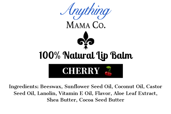 100% Natural Lip Balm Cherry