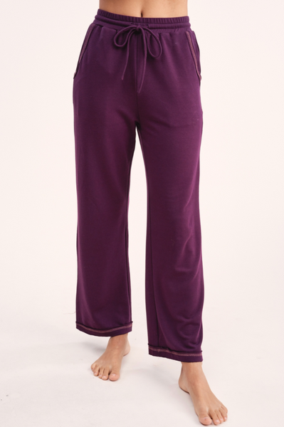 Jalen Cozy Lounge Set Eggplant