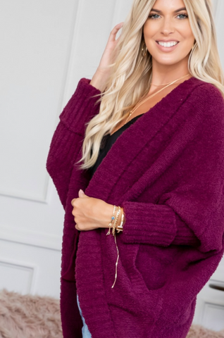 Cozy Knit Open Front Sweater (2 colors)