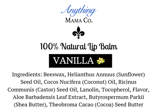100% Natural Lip Balm Vanilla