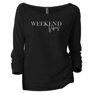 Weekend Vibes Slouchy Sweatshirt