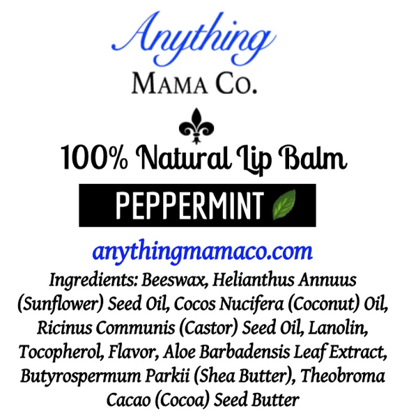 100% Natural Lip Balm Peppermint