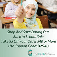 Back To School Hijab | B2S40- Coupon Code
