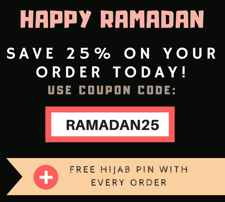 Save 25% Now On All Your Hijabs During Ramadan