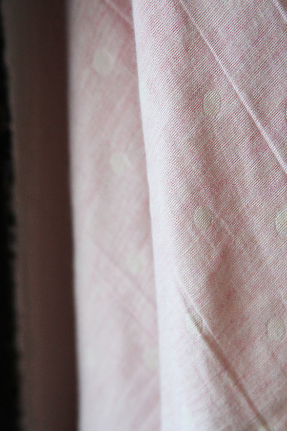Double Gauze Jacquard Polka Dot Cotton CA0029