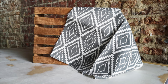 Zero Waste Pre-Cut Canvas Grey Diamond
