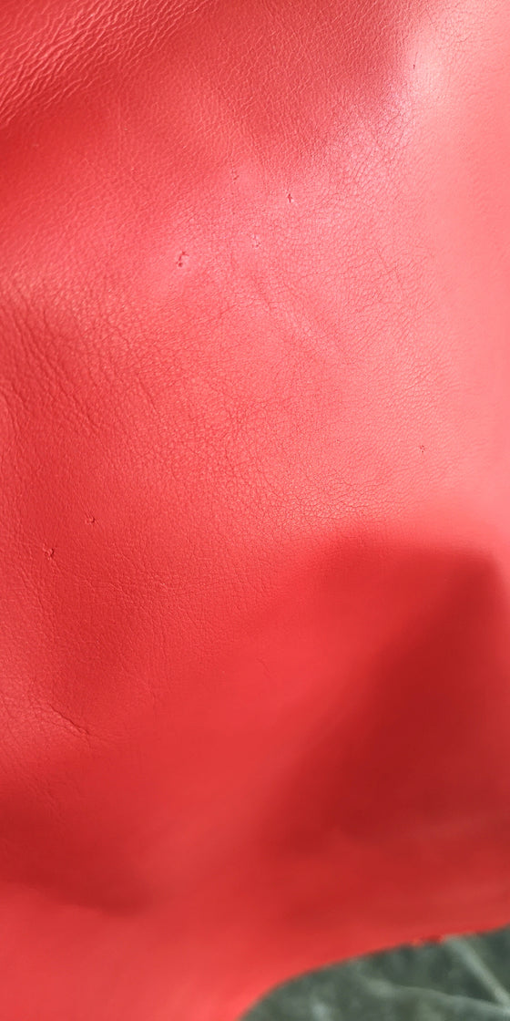 Copy of Genuine Lambskin leather -  Fire Red