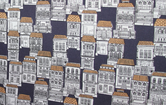 Exclusive Cotton Organic SF0005B - Shophouse Navy