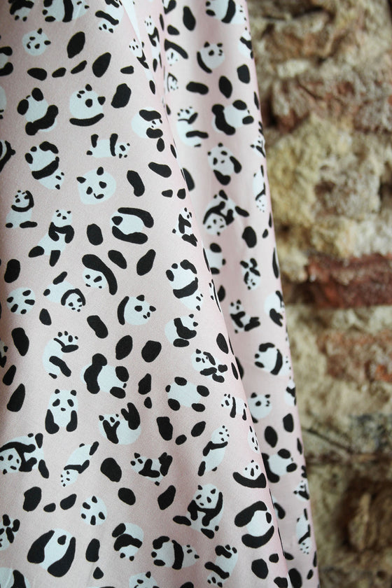 Exclusive Cotton Organic SF0023A - Panda Leopard Pink