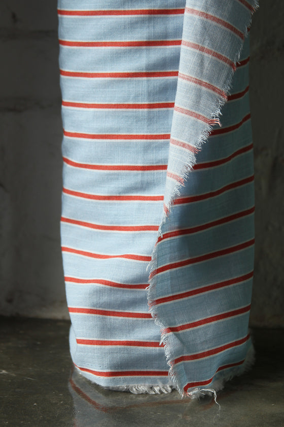 Printed Stripe Slub Cotton CA0026