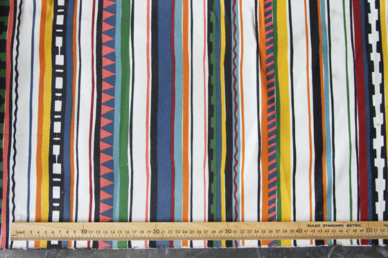 Printed Stripe Cotton Canvas CA0004