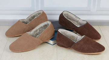 Men's Shearling Lined Slippers - Your Most Comfy & Well-Made All Weather Footwear