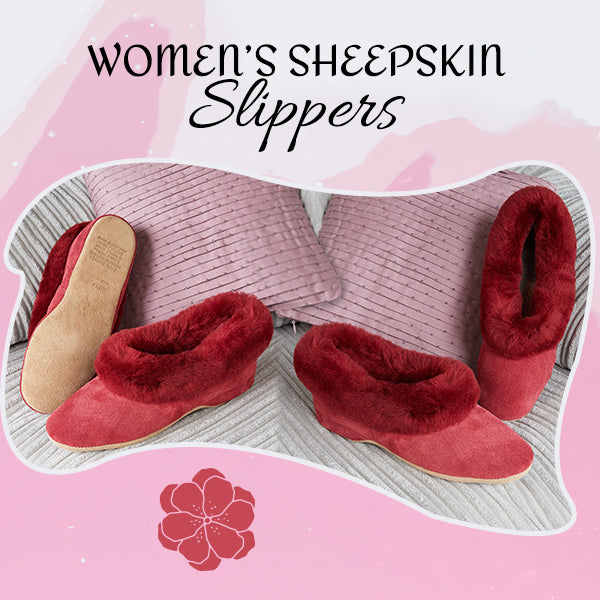 womens shearling slippers