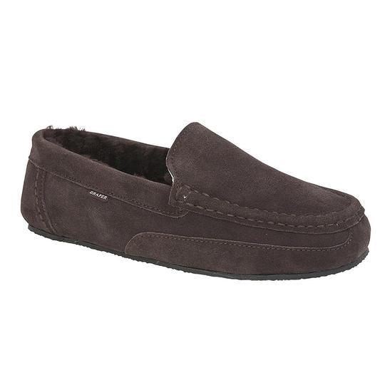 Hugo Shearling Moccasin Slippers