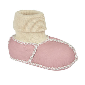 BABY SHEARLING SLIPPER SOCKS - PINK