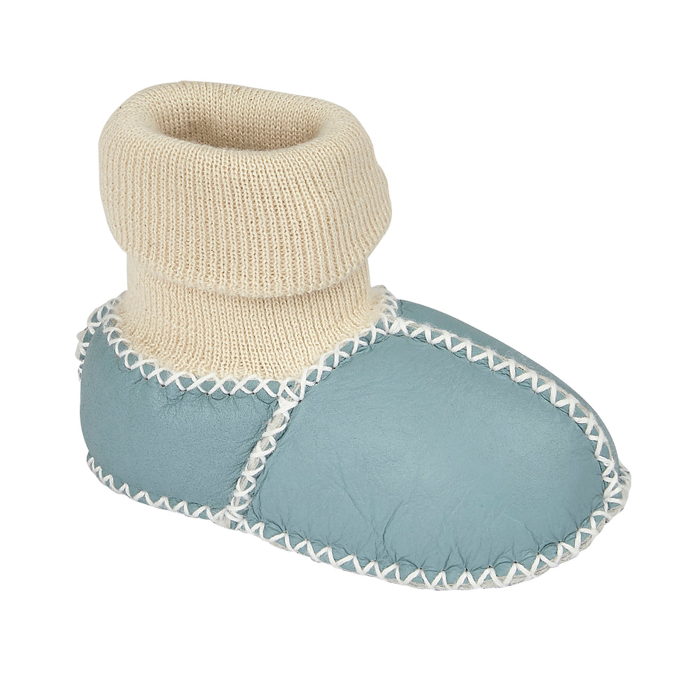 BABY SHEARLING SLIPPER SOCKS - SKY