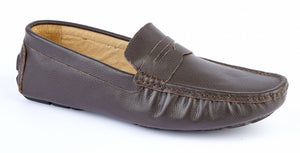 BROWN LEATHER DRIVING SHOE