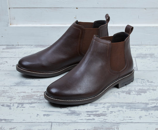 men's shearling lined Chelsea boot