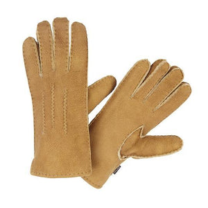 WOMEN'S TAN SHEARLING GLOVES