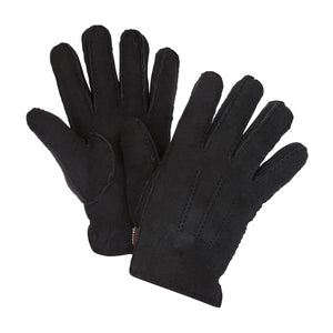 WOMEN'S BLACK SHEARLING GLOVES