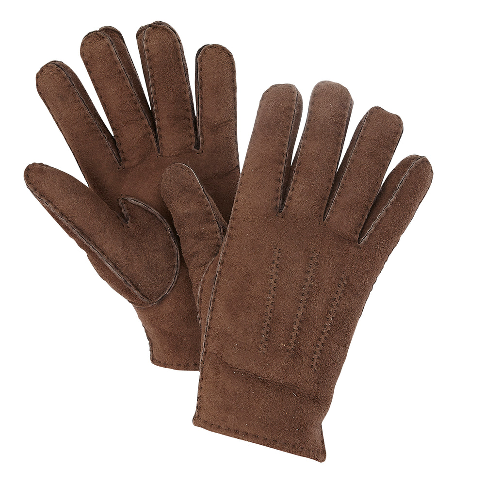 WOMEN'S BROWN SHEARLING GLOVES