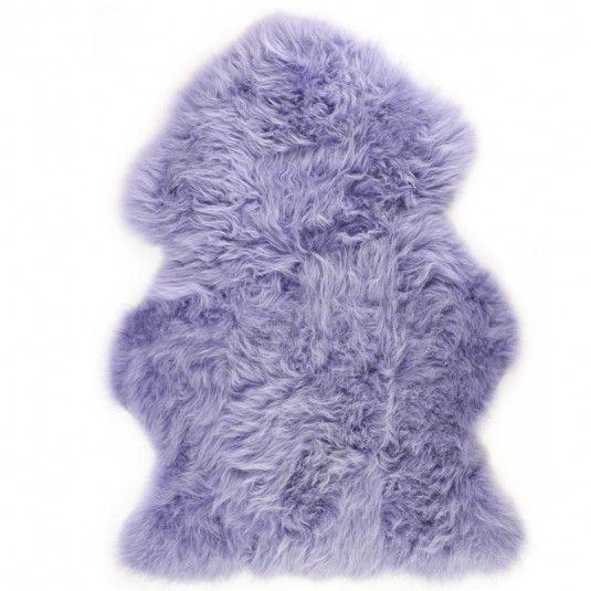 NATURAL SHEARLING RUG COLOUR LILAC
