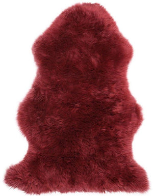 NATURAL SHEARLING RUG COLOUR STRAWBERRY