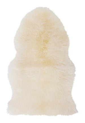 NATURAL SHEARLING RUG COLOUR WHITE