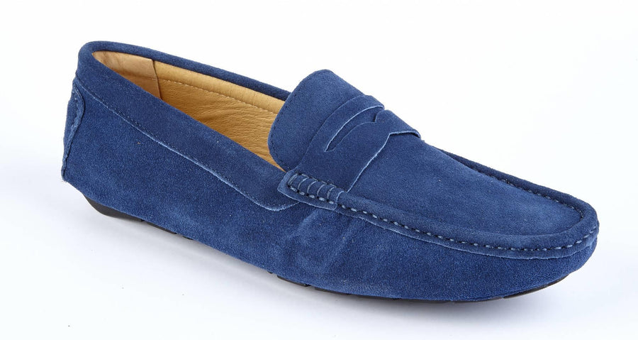 NAVY SUEDE DRIVING SHOE