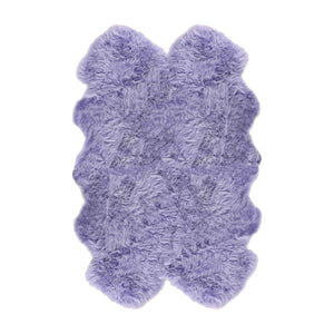 Quadruple Shearling Rug Colour Lilac