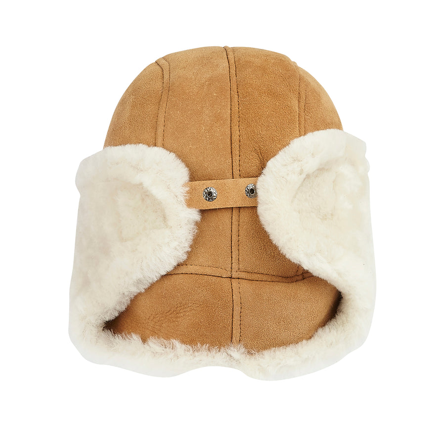 WOMEN'S SHEARLING TRAPPER HAT