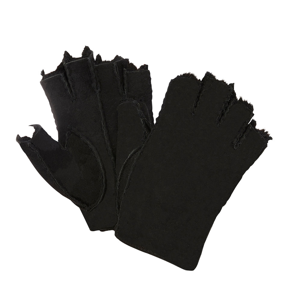MEN'S FINGERLESS GLOVES - BLACK
