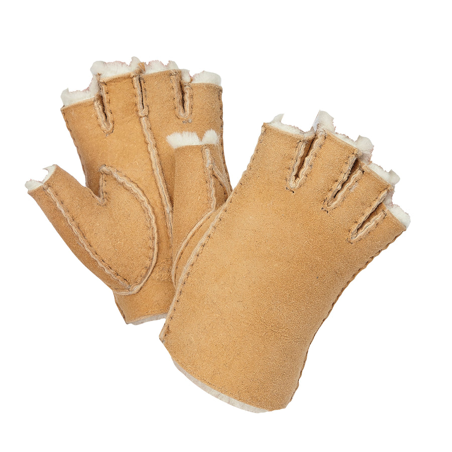 WOMEN'S FINGERLESS GLOVES - SPICE