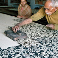 Block printing for Mehera Shaw in Bagru Village