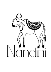 Nandini logo for Mehera Shaw homewares collection